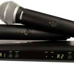 Micro Shure BLX288A/SM58
